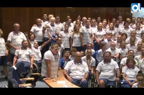 Los paralímpicos reciben en Madrid una calurosa bienvenida