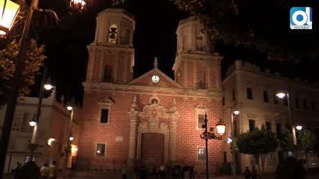 La Iglesia Mayor se iluminó con los colores azul y naranja de Aspace