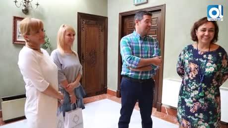 El alcalde recibe a profesoras de intercambio del programa Erasmus +