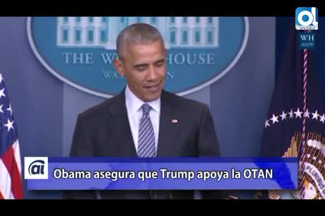 Obama: Trump quiere mantener relaciones estratégicas con la OTAN