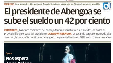 Urquijo se sube el sueldo un 42% hasta 1 millón al llegar a Abengoa
