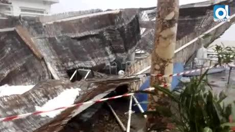 Las lluvias y el viento causan destrozos en los Baños del Carmen