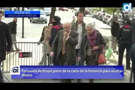 Marta Ferrusola destruyó parte de la carta de la supuesta herencia