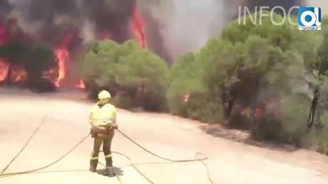 Activan el nivel 1 del Plan Infoca por el incendio de Riotinto