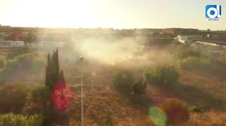 Incendio en una parcela anexa a la vaqueriza de avenida La Matea