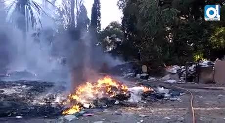 Incendio en las inmediaciones de la Estación Depuradora de Guadalhorce