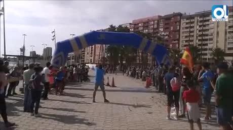 Fidel Ruiz y Fátima Porras ganan la carrera del Pilar en Algeciras