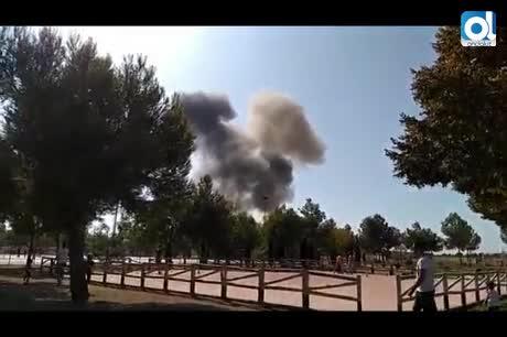 Se estrella en Albacete un avión que volvía del desfile nacional