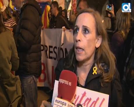 """Manifestantes piden en Madrid la liberación de los """"presos políticos"""""""
