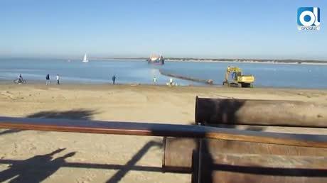 Empiezan a llegar los sedimentos para regenerar las playas sanluqueñas