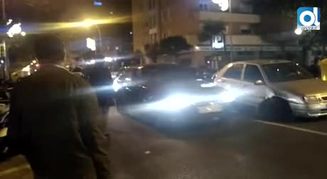 Accidente entre tres coches en la avenida Ana de Viya