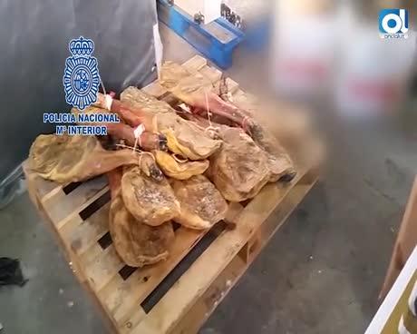 Detenidos con más de 900 piezas de quesos, embutidos y jamones robados