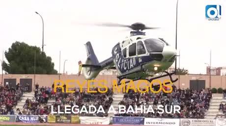 Los Reyes Magos llegaron en el helicóptero de la Policía Nacional