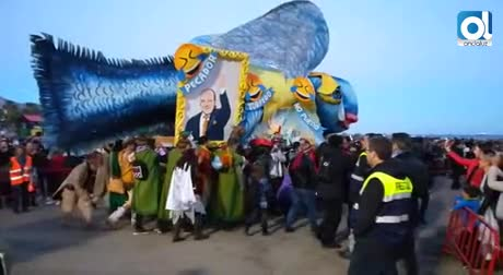 El entierro del Boquerón despide el Carnaval de Málaga