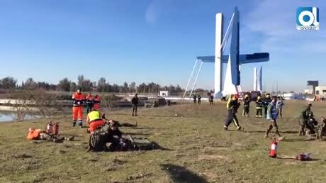 Cien efectivos participan en el simulacro del accidente aéreo militar