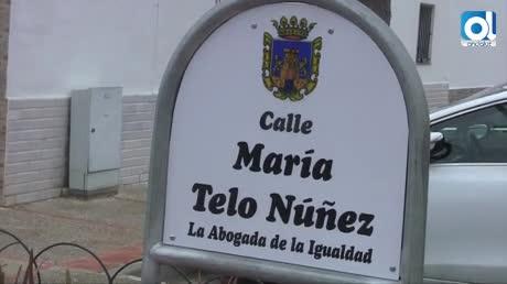 Inauguradas las calles María Telo, Felisa Martín y Asunción Linares