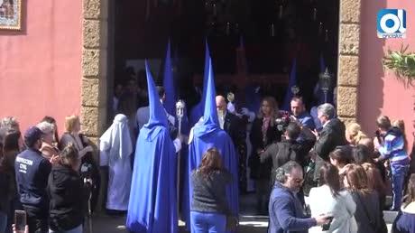 La Borriquita desafía al clima y abre la Semana Santa 2018