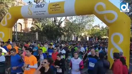 Los escolares cobran protagonismo en la carrera del parque María Luisa