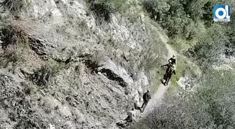 Herida en las piernas al despeñarse en Los Molinos de San Telmo
