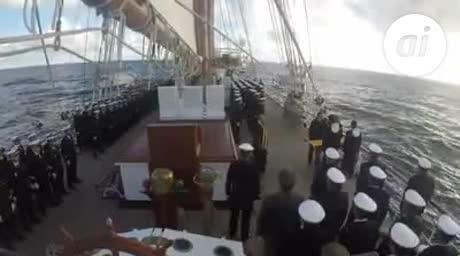 Emotivo homenaje de Elcano al submarino argentino hundido