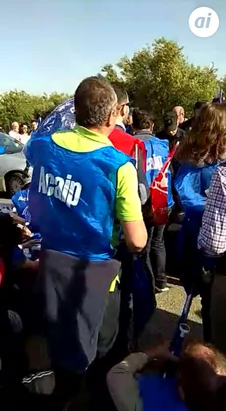 Funcionarios de prisiones protestan en Sevilla por igualdad de sueldos