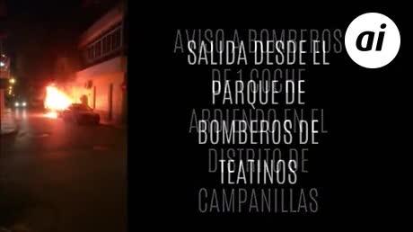"""Vecinos de Campanillas increpan a los bomberos por su """"tardanza"""""""