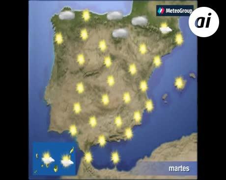 Las temperaturas suben de manera generalizada en España