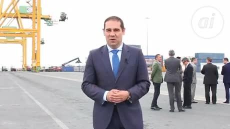 La naviera china Cosco visita las instalaciones del Puerto de Huelva