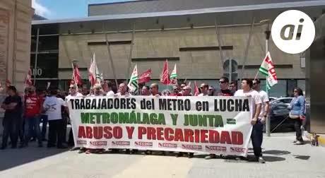 Seguimiento del 100% en la nueva jornada de huelga del Metro de Málaga