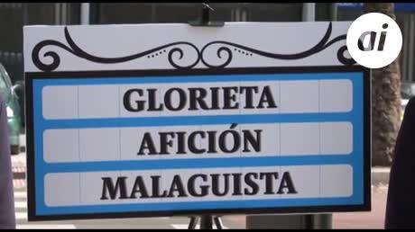 La glorieta 'Al Thani' no, mejor 'Glorieta Afición Malaguista'
