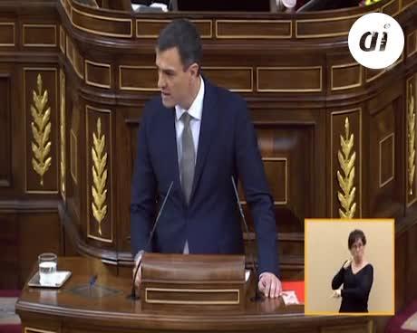 """Sánchez a Rajoy: """"Dimita y esta moción de censura habrá terminado"""""""
