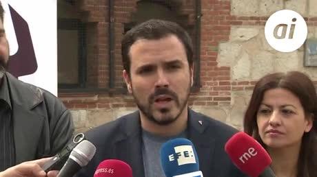 "Alberto Garzón dice que son ""escépticos"" con las promesas del PSOE"