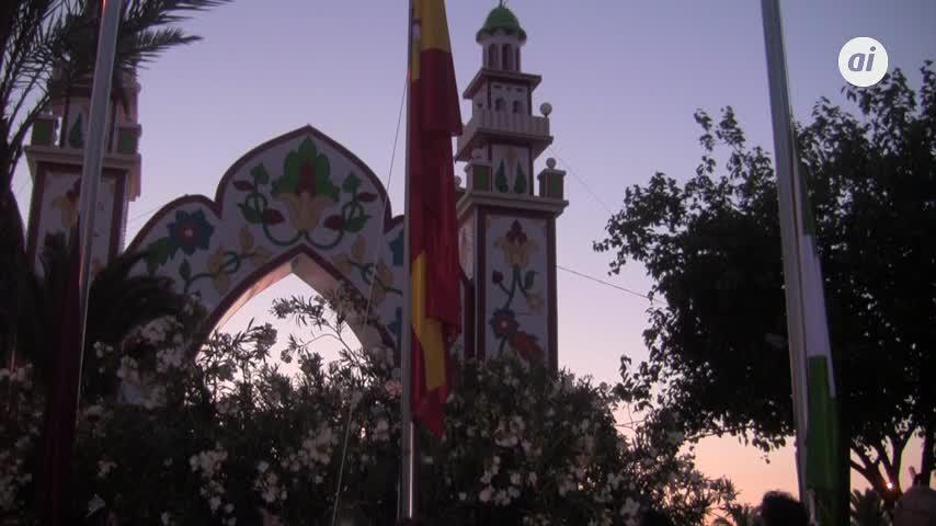 El alumbrado da paso a seis días de fiestas en la Feria chiclanera