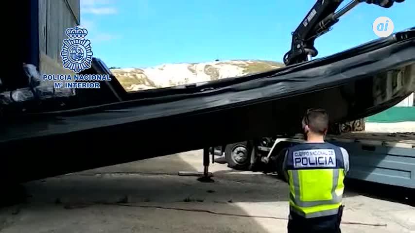 Intervenidas en Jerez dos embarcaciones para transporte de hachís