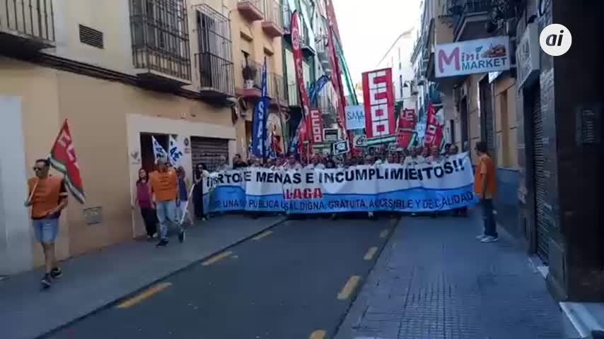 """""""Clamor público"""" en Málaga por la dignidad de la sanidad"""
