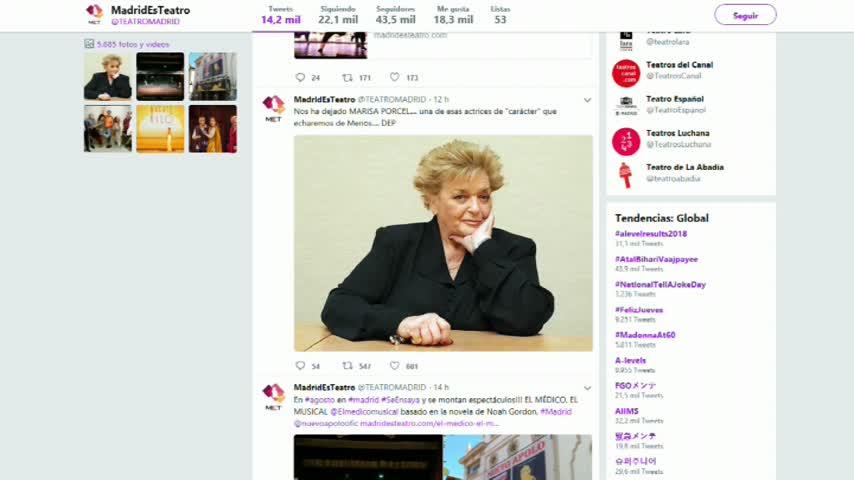 Fallece la actriz Marisa Porcel, famosa por 'Escenas de matrimonio'