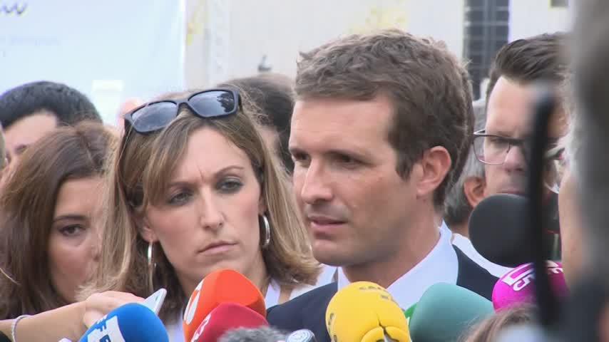 """Casado ve """"indignante"""" el uso """"torticero"""" de los independentistas"""