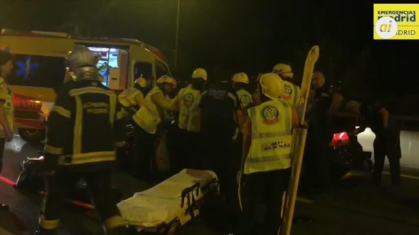 Un conductor 'kamikaze' provoca ocho heridos en la M-30