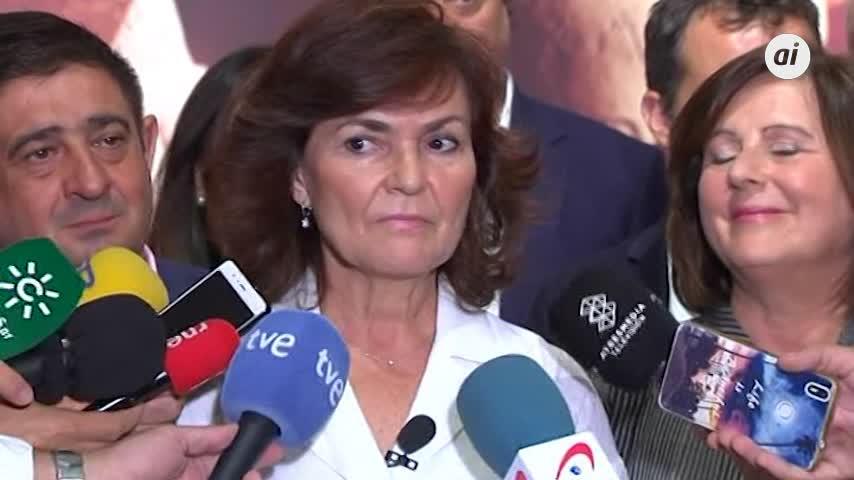 """Calvo cree que """"con frases no se ataca al Estado"""", en alusión a Torra"""