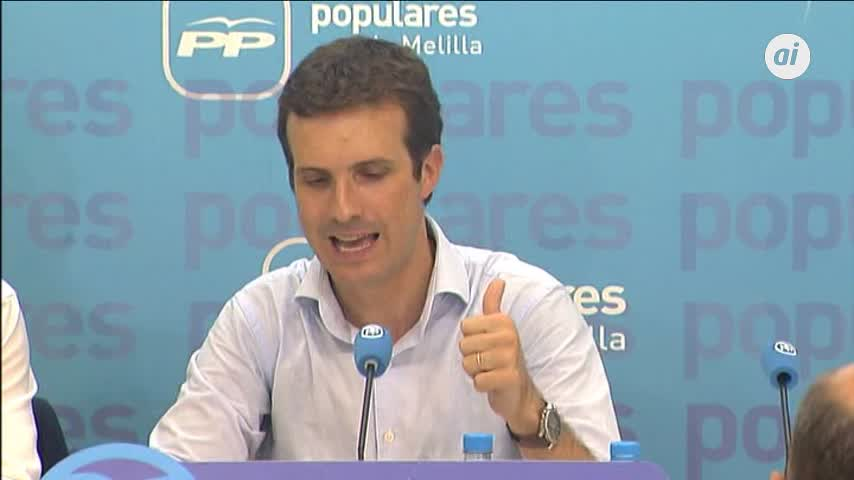 """Casado dice que Sánchez """"no hace nada"""" para frenar presión migratoria"""