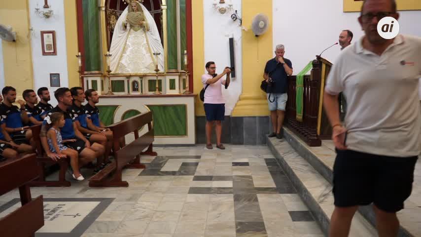 A la Virgen del Carmen y a la Pastora por una buena Liga
