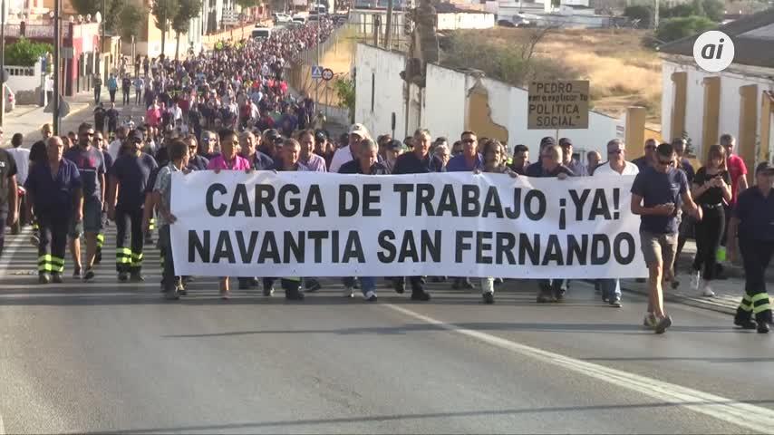 La protesta de Navantia va a más y alcanza al nudo de Tres Caminos