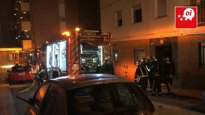 30 personas atendidas tras un incendio en una vivienda de Pozuelo