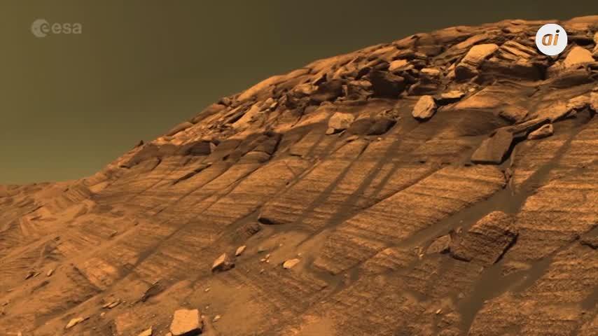 Un cráter helado en el confín del hemisferio sur de Marte