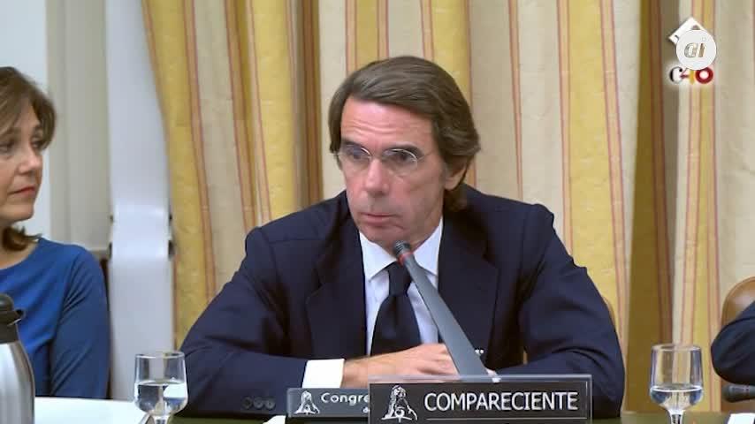 """Bronca entre Aznar y Rufián, con acusaciones mutuas de """"golpismo"""""""