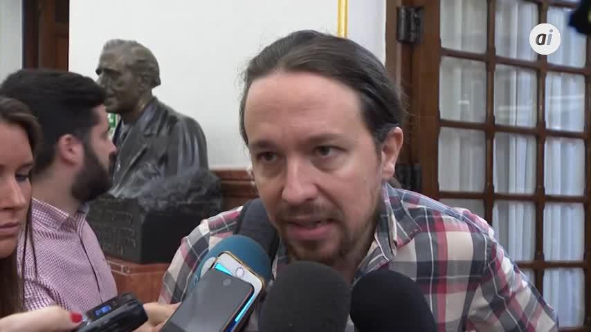 """Iglesias: """"Legítimo"""" que PSOE use una ley para evitar el veto del PP"""