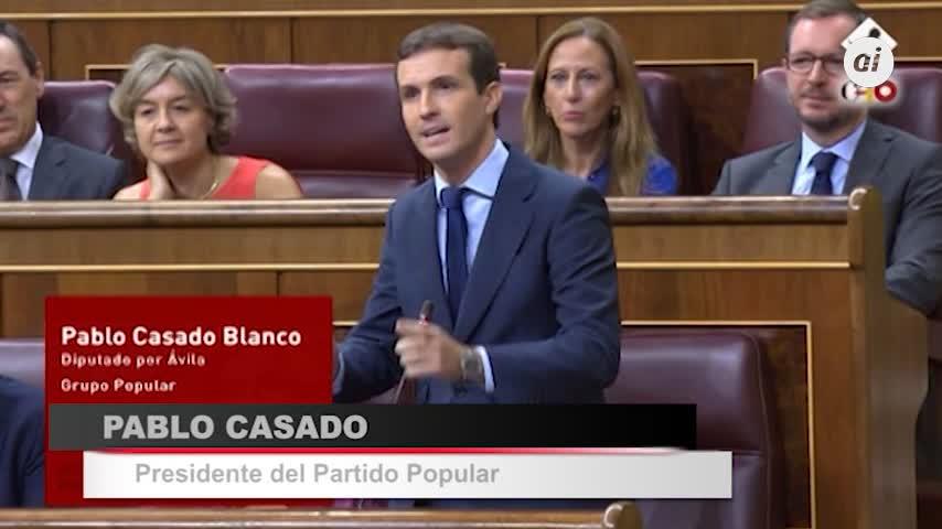 """Pablo Casado exige a Sánchez elecciones """"cuanto antes"""""""