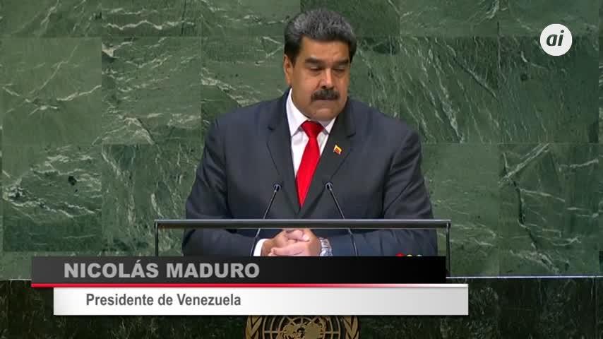 Maduro denuncia en la ONU la agresión de EEUU, pero ofrece diálogo