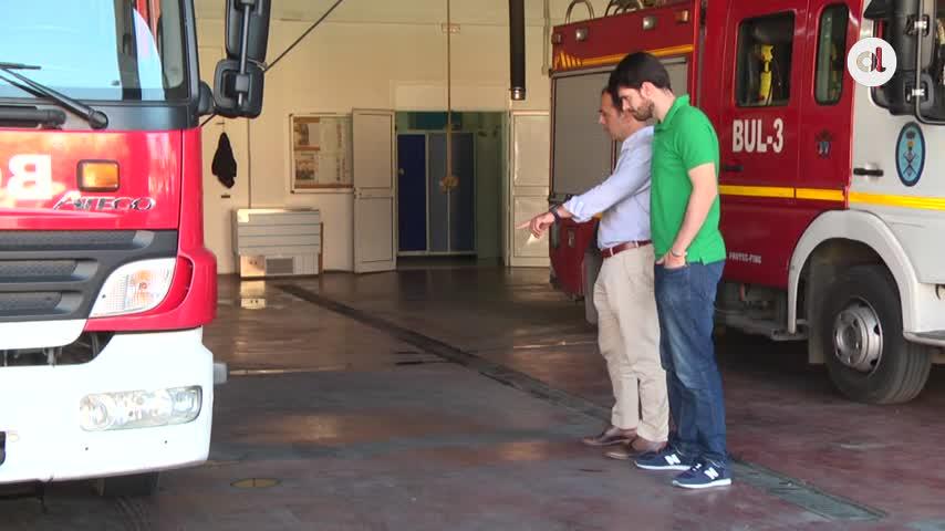 Millán urge a rehabilitar el parque de bomberos de Pino Montano
