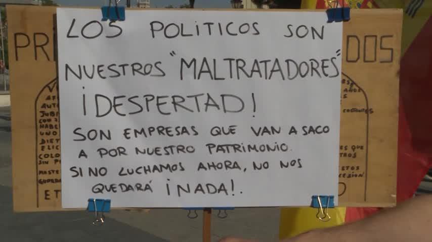 Manifestación contra el impuesto de sucesiones y contra Sánchez